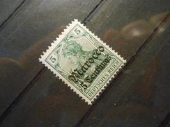 D.R.Mi 35  5Cauf5Pf**MNH - Deutsche Auslandspostämter ( MAROKKO ) 1906  Mi € 18,00 - Offices: Morocco