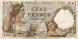 BILLET CENT FRANCS 1939 - 1871-1952 Antichi Franchi Circolanti Nel XX Secolo