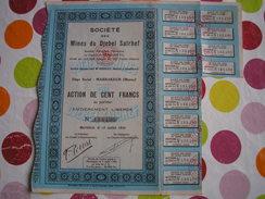 MAROC - Société Des Mines Du Djebel Salrhef - Action De 500 Francs - Altri