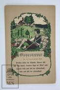 Old Postcard Germany - Illustrated Postcard - Shepherd - Song Lyrics - Música