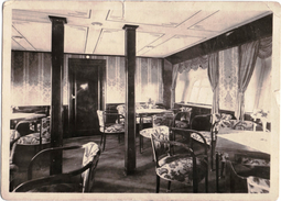GRAF ZEPPELIN - LZ 127-DINING ROOM-AUFENTHALTSRAUM - UNCIRCULATED WITH RED STAMP ON BACK - Zeppeline