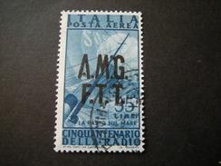 TRIESTE - AMGFTT. 1947, AEREA, RADIO, L. 35 Azzurro, Usato Perfetto - 7. Triest