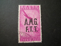 TRIESTE - AMGFTT. 1947, AEREA, RADIO, L. 50 Lilla Rosa, Usato Perfetto - 7. Triest