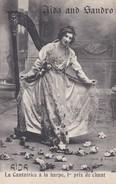 OPERA---AÏDA AND SANDRO--la Cantatrice à La Harpe,1er Prix De Chant--voir 2 Scans - Opéra