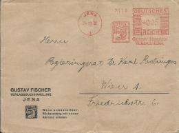 B3  Drucksache , Cover  ( Gustav Fischer , Verlagsbuchhandlung ) Von Jena Nach Wien Um 1932 - Deutschland