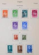 O 1937-1951 Teljes és Hiányos Sorok Blokkok Nélkül ElÅ'nyomott Albumlapokon