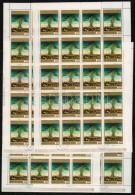 O 1973-1976 Festmények (X, XII), Tiziano 6 Klf Bélyeg 3x20-as Teljes ívekben (7.200)
