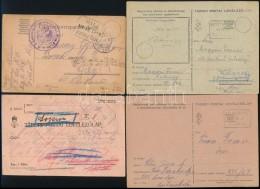 1916-1944 4 Db Tábori Posta LevelezÅ'lap Klf Posta ügynökségi BélyegzÅ'kkel