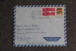 Enveloppe Timbrée Envoyée Par Avion De TOULON à MADAGASCAR - Marcophilie (Lettres)