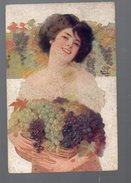 Vecchi (illustrateur) Femme Aux Raisins  (PPP4884) - Illustrators & Photographers