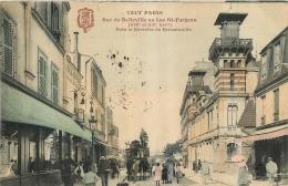 PARIS  SERIE TOUT PARIS RUE DE BELLEVILLE AU LAC ST FARGEAU PRES BARRIERE DE ROMAINVILLE - Arrondissement: 20