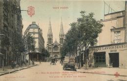 PARIS  SERIE TOUT PARIS RUE DU JOURDAIN EGLISE ST JEAN BAPTISTE DE BELLEVILLE  COLLECTION FLEURY - Arrondissement: 19