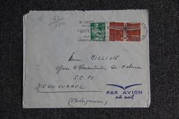 Enveloppe Timbrée Envoyée Par Avion De METZ à MADAGASCAR - Marcophilie (Lettres)