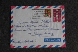 Enveloppe Timbrée Envoyée Par Avion De CAUTERETS à MADAGASCAR - Marcophilie (Lettres)