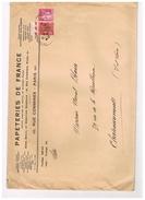 D75. ENVELOPPE PAPETERIES DE FRANCE. Rue Des COMMINES. 1938. - Vieux Papiers