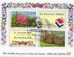 France Oblitération Cachet à Date BF N°  15 (2849 Et 2850) Premier Jour - Salon Du Parc Floral - Rhododendron - Blocks & Kleinbögen