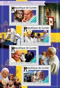 GUINEA 2015 SHEET POPE JOHN PAUL II PAPE JEAN PAUL PAPA JUAN PABLO POPES PAPES PAPAS RELIGION Gu15217a - Guinee (1958-...)