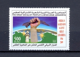 Libya 2009 - Stamp - The 23rd Anniversary Of The American Attack On Libya - MNH** Excellent Quality - Libië