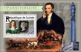 GUINEA 2015 SHEET ANNIVERSARY FIRST POSTAGE STAMP PENNY BLACK ANNIVERSAIRE PREMIERE TIMBRE POSTAL VICTORIA Gu15221b - Guinea (1958-...)