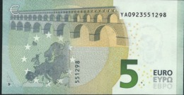 € 5 GREECE  Y001 A4  DRAGHI  UNC - EURO