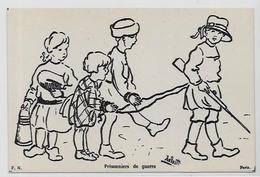 CPA Franchise Militaire Guerre 9 X 13,5 Non Circulé Anti Kaiser Germany Voir Scan Du Dos Enfants - Guerre 1914-18