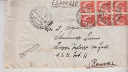 Storia Postale Repubblica Democratica Sestina 1949 Espresso Udine - 6. 1946-.. Repubblica