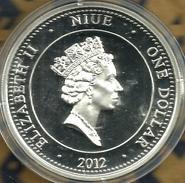 NIUE ISLAND $1 WWII BATTLE FOR AUSTRALIA COLOURED FRONT QEII HEAD BACK 2012 PROOF SILVER READDESCRIPTION CAREFULLY!!! - Niue