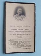 DP Mme Antoine DAVID ( ) Décédée ( Fête De La Visitation ) 2 Juillet 1935 à L'age De 62 Ans - FR !