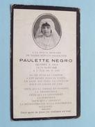DP Paulette NEGRO Décédée à NICE Le 10 Mars 1935 à L'age De 11 Ans - FR !