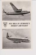 Pc BEA B.E.A. British European Airlines Vickers Viscount & Elizabethan Aircraft - 1946-....: Moderne
