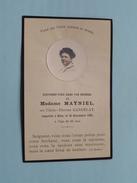 DP Madame MAYNIEL Née Claire-Thérèse GANDELAT Décédé Le 23 Dec. 1920 à L'age De 65 Ans ( Lesort ) FR !