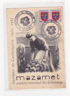 Mazamet Centre Mondial Du Délainage Journée Du Centenaire 1851 1951 - Mazamet
