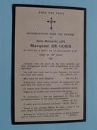 DP Marie-Marguerite LANE Marquise DE CORN Le 27 Déc 1922 Dans Sa 49e Année ( Bouasse-Lebel ) FR !