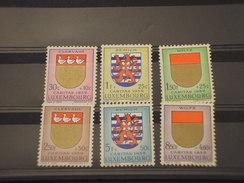 LUSSEMBURGO - 1959 STEMMI  6 VALORI  - NUOVI(++) - Luxemburg