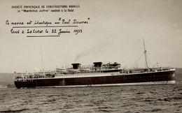 LE MARECHAL JOFFRE LANCE DE LA CIOTAT LE 22 JANVIER 1933 - Guerre
