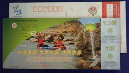 Shenzhen Flying Waterfall,China 2011 Ningbo Tourism Site Ninghai Rafting Resort Discount Coupon Advert Pre-stamped Card - Rafting