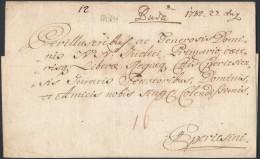 1782 Portós levél / unpaid cover 'Buda.'