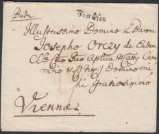 1782 Portós levél / unpaid cover 'Von Ofen' - Vienna