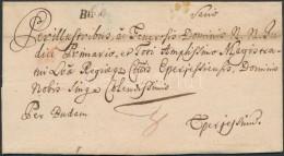 1770 Portós levél / Unpaid cover 'Buda.'