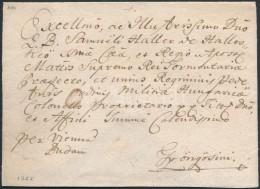 1765 Portós levél / unpaid cover piros / red 'Güns' - Gyöngyös