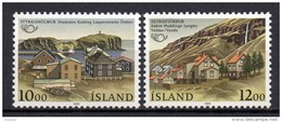 Islande - 1986 - Yvert N° 603 & 604 **  - Norden - 1944-... Republique
