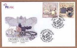 AC - TURKEY FDC - VALUABLE STONES MEERSCHAUM - OLTU STONE ANKARA 29 APRIL 2015 - 1921-... Republic