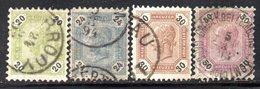 R1028 - AUSTRIA 1891 ,  Serie Usata Unificato N. 59/62  Usato - Used Stamps