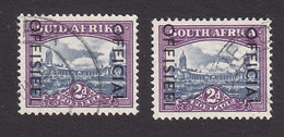 South Africa, Scott #O47a, O47b, Used, Government Building Overprinted, Issued 1950 - South Africa (...-1961)