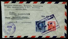 A4646) Venezuela Brief Von Caracas 1947 Nach Germany Zensur - Venezuela