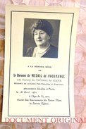 Baronne De Mesnil De Volkrange Coraly De Thomaz De Steve^paris 1951