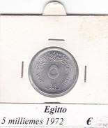 EGITTO   5 MILLIEMES  1972  COME DA FOTO - Egitto