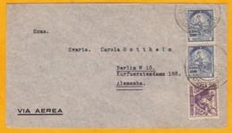 1938 - Enveloppe Par Avion De Sao Paulo, Brésil Vers Berlin, Allemagne - Affrt 4200 Reis - Luchtpost