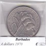 BARBADOS   4 DOLLARS  1970  COME DA FOTO - Barbados