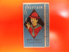"""Thème""""Scoutisme""""boîte De Cigarettes(en Chocolat?)couvercle Coulissant_voir 3 Photos - Vieux Papiers"""
